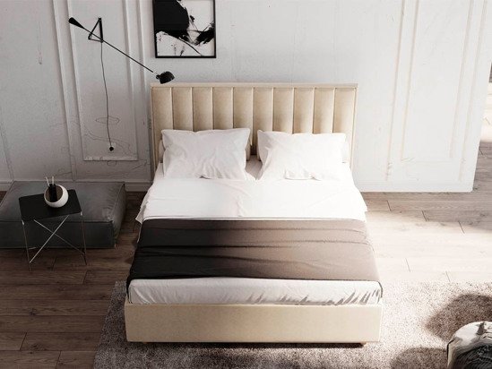 Ліжко Bristol Luxe 90x200 Бежевий 2 -4