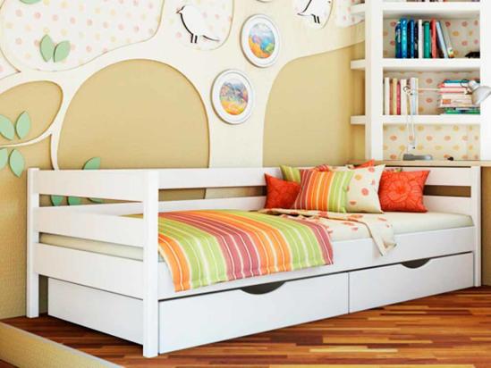 Ліжко Агата 80x190 Білий -1