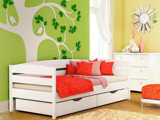 Ліжко Агата Люкс 90x200 Білий -1