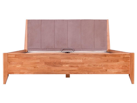 Ліжко Женева Luxe 160x200 Лак Натуральний 5 -2