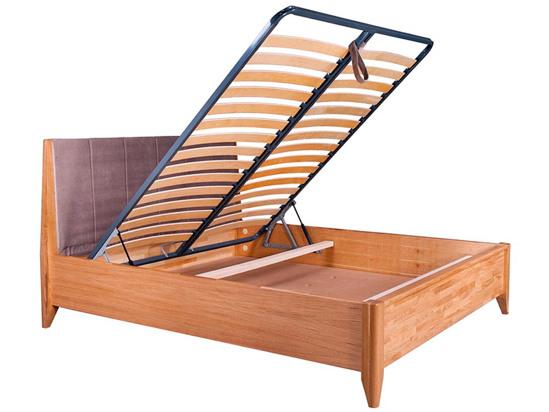 Ліжко Женева Luxe 160x200 Лак Натуральний 5 -4
