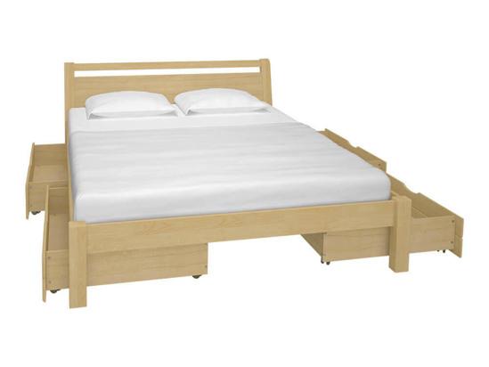 Ліжко Пегас 140x200 Лак Натуральний -3