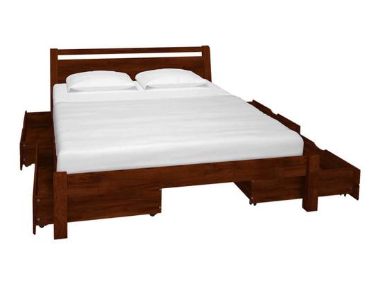 Ліжко Пегас 140x200 Фарба Коричневий -3