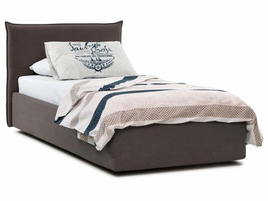 Ліжко Ніка Luxe 90x200 Коричневий 3 -1