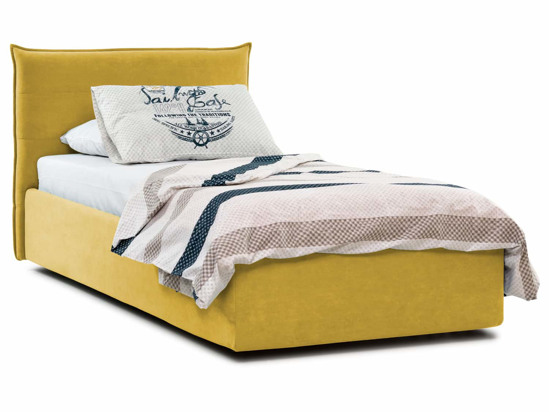 Ліжко Ніка Luxe 90x200 Жовтий 4 -1