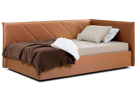 Ліжко Вероніка Luxe 120x200 Помаранчевий 2 -1
