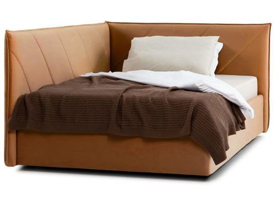 Ліжко Вероніка Luxe 120x200 Помаранчевий 2 -2