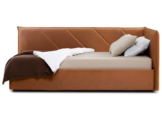 Ліжко Вероніка Luxe 120x200 Помаранчевий 3 -3