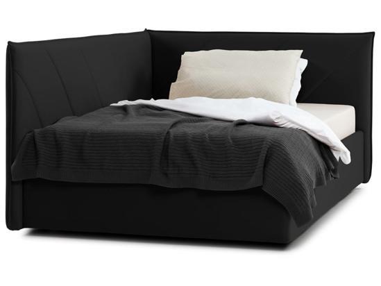 Ліжко Вероніка Luxe 120x200 Чорний 3 -2