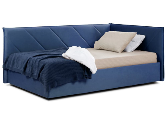 Ліжко Вероніка Luxe 120x200 Синій 3 -1