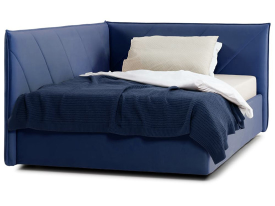 Ліжко Вероніка Luxe 120x200 Синій 3 -2