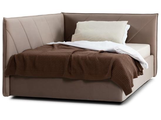 Ліжко Вероніка Luxe 120x200 Коричневий 3 -2