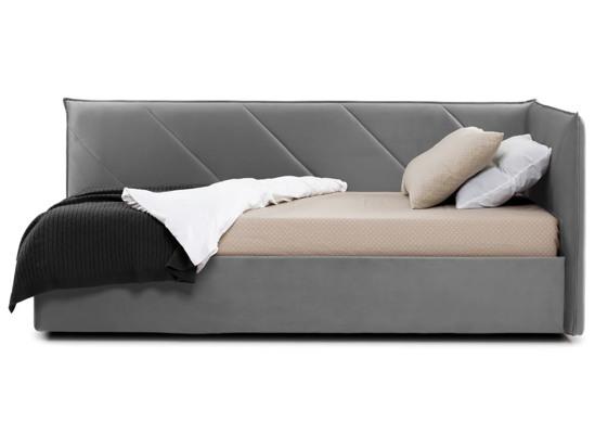 Ліжко Вероніка Luxe 120x200 Сірий 4 -3