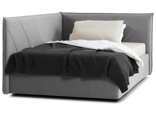 Ліжко Вероніка 120x200 Сірий 6 -2