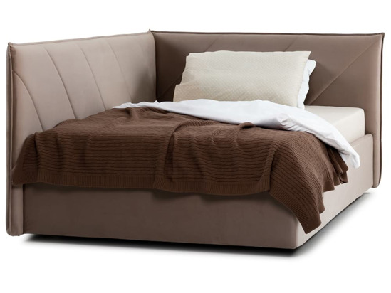 Ліжко Вероніка Luxe 120x200 Коричневий 6 -2