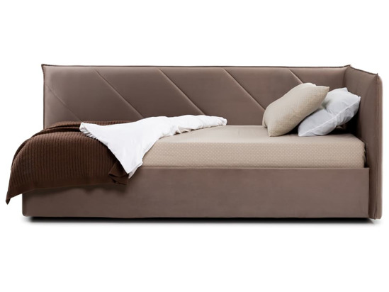 Ліжко Вероніка Luxe 120x200 Коричневий 8 -3
