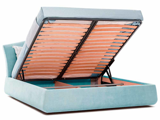 Ліжко Марго Luxe 200x200 Синій 8 -4