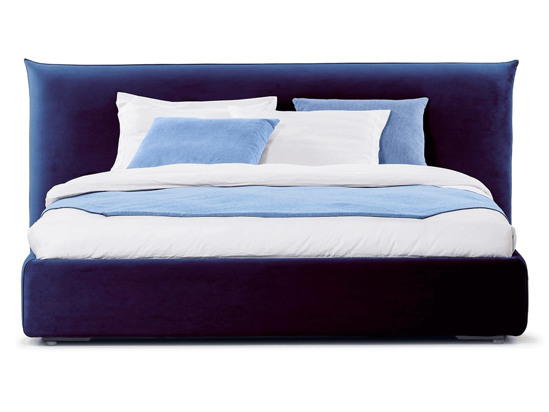 Ліжко Ніколь 200x200 Синій 3 -2