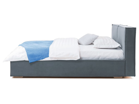 Ліжко Скарлет 200x200 Сірий 4 -3