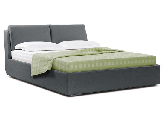 Ліжко Стеффі Luxe 200x200 Сірий 5 -1