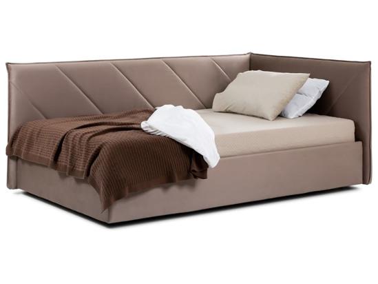 Ліжко Вероніка Luxe 120x200 Коричневий 2 -1