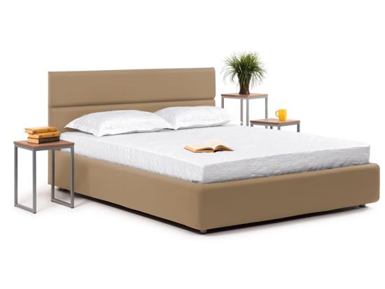Ліжко Лаура Luxe 200x200 Коричневий 2 -1
