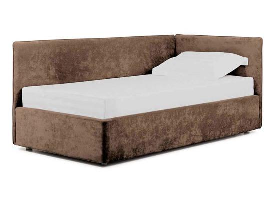 Ліжко Полина Luxe 90x200 Коричневий 2 -1