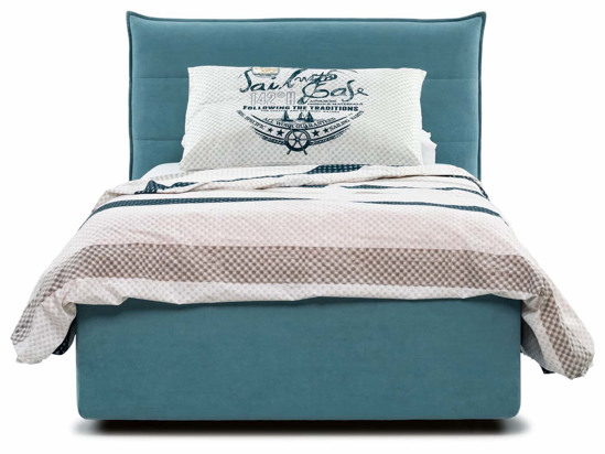 Ліжко Ніка Luxe 90x200 Синій 2 -2